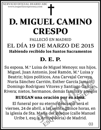 Miguel Camino Crespo